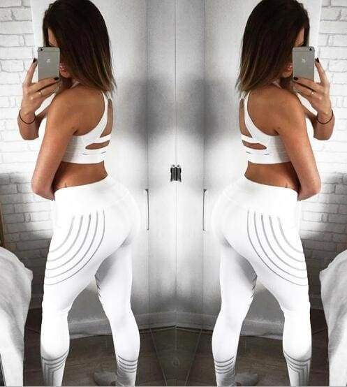 Fashion Slim Leggings - White / L - Leggings
