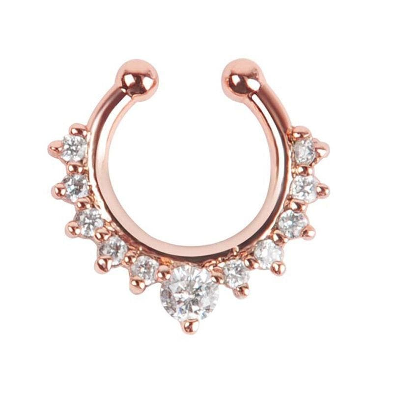 Faux Septum Piercing - rose gold - Nose Piercing
