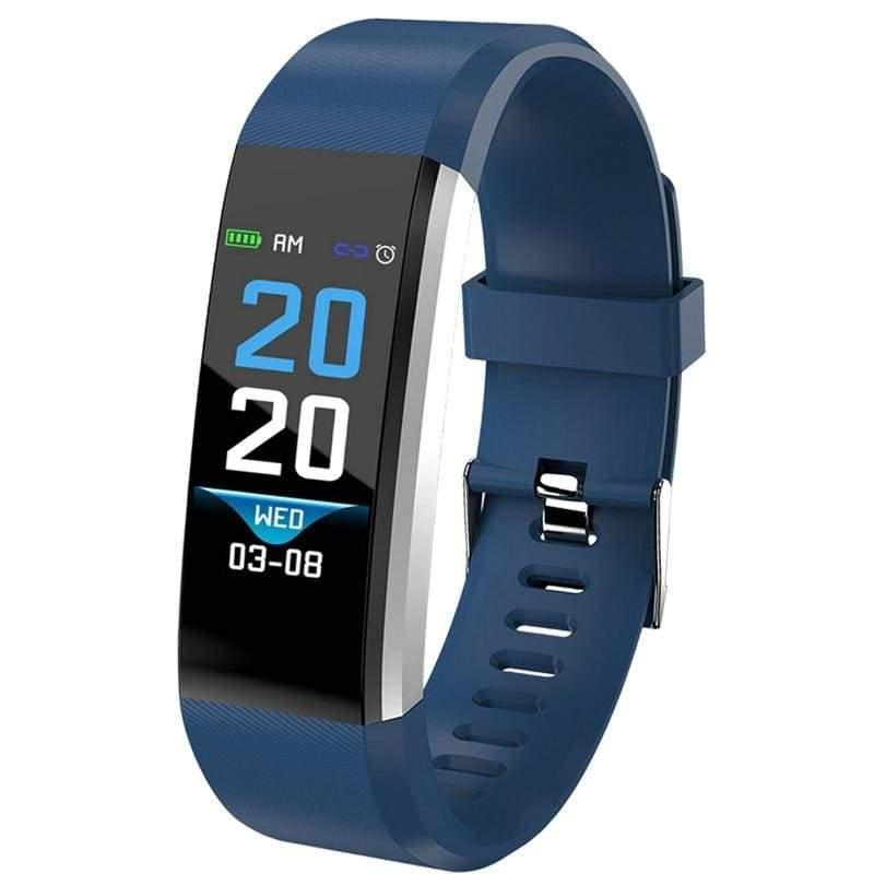 Fitness Tracker Smartwatch - blue - Digital Watches