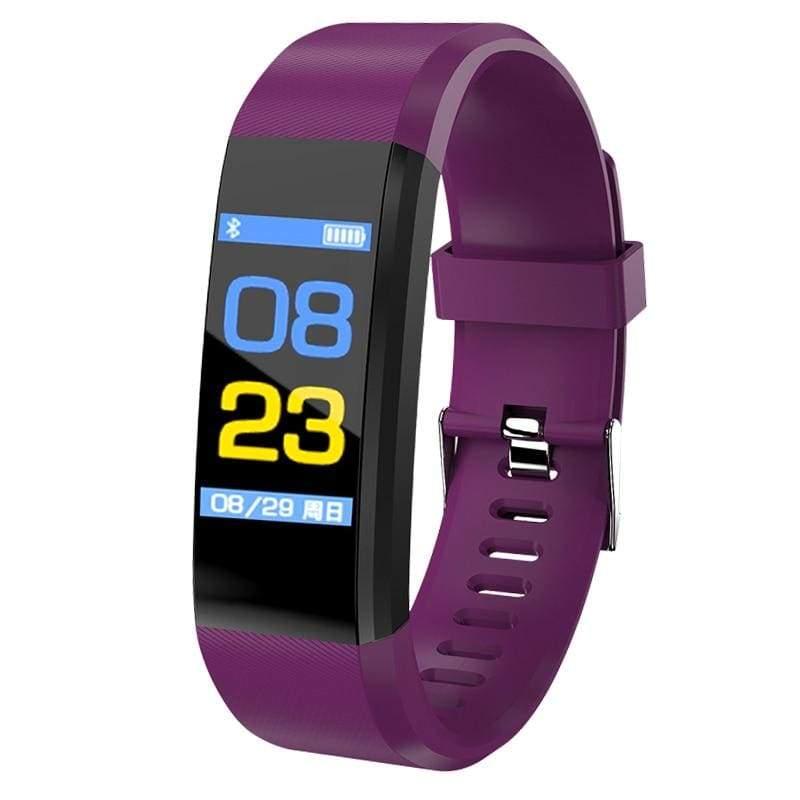 Fitness Tracker Smartwatch - purple - Digital Watches
