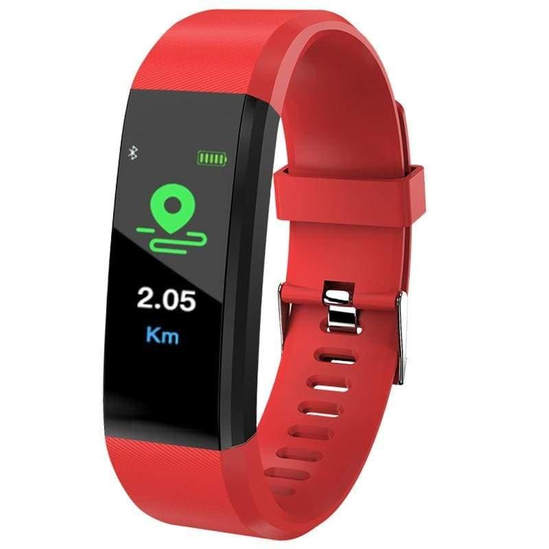 Fitness Tracker Smartwatch - red - Digital Watches