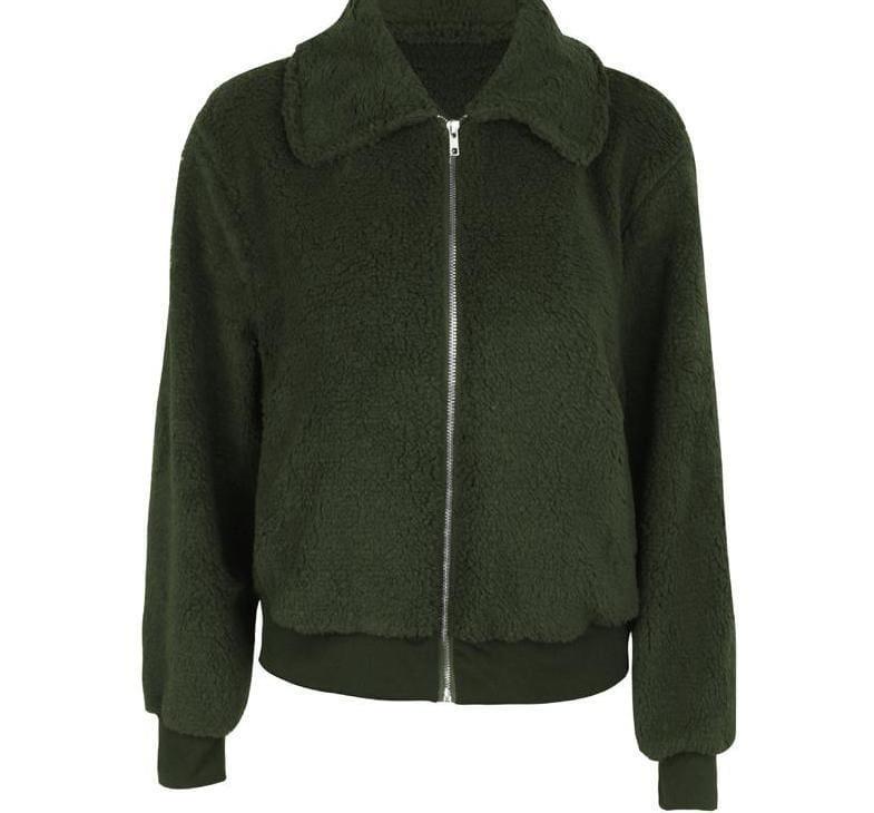 Fleece Fur Coat Just For You - Basic Jackets