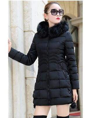 Fur Parkas Women Coat Just For You - black / M - Women Coat
