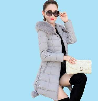 Fur Parkas Women Coat Just For You - gray / M - Women Coat