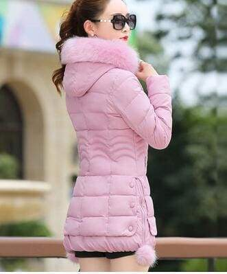 Fur Parkas Women Coat Just For You - pink / M - Women Coat