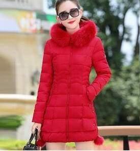 Fur Parkas Women Coat Just For You - red / M - Women Coat