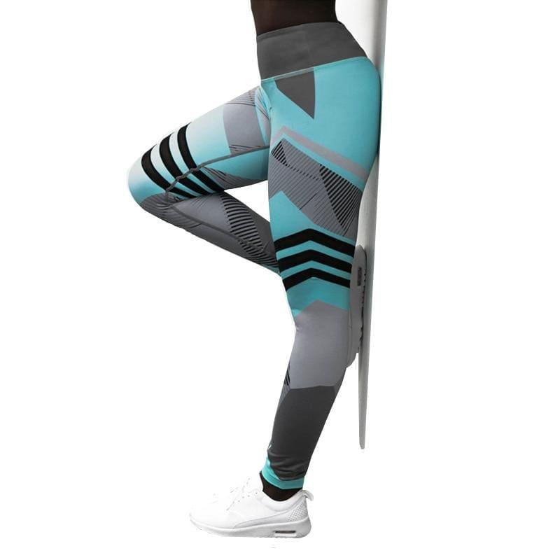 Geometric Leggings Just For You - Blue / S - Yoga Pants