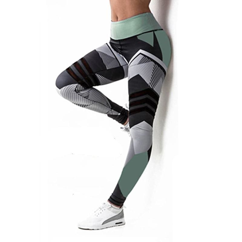Geometric Leggings Just For You - Green / S - Yoga Pants