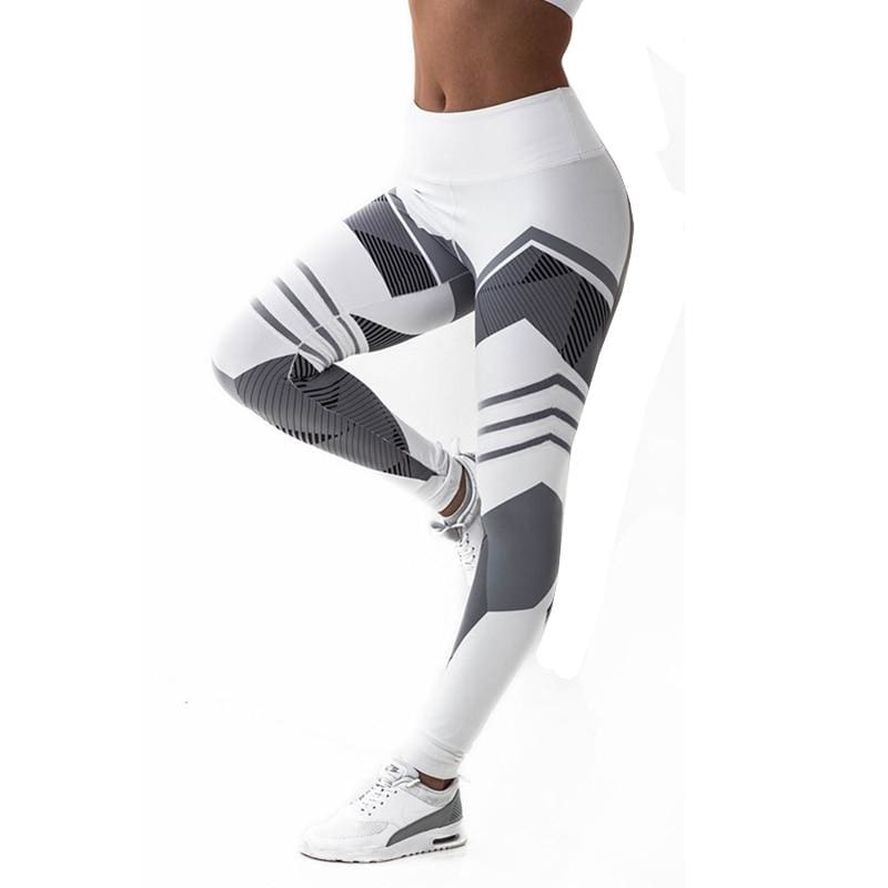 Geometric Leggings Just For You - White / S - Yoga Pants