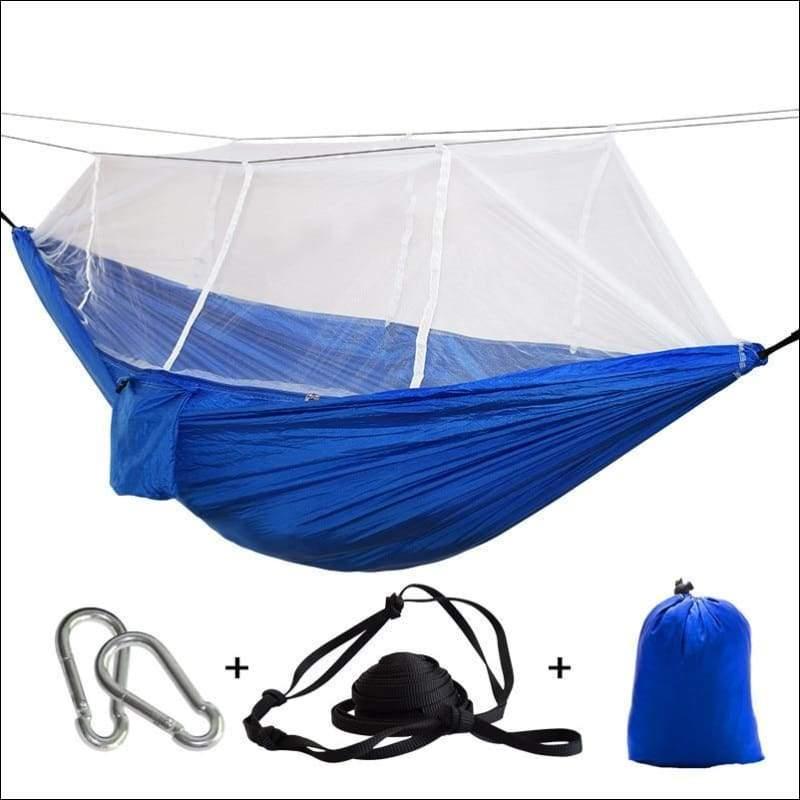 Hammock Tree Tent - blue white net - Hammock Tree Tent
