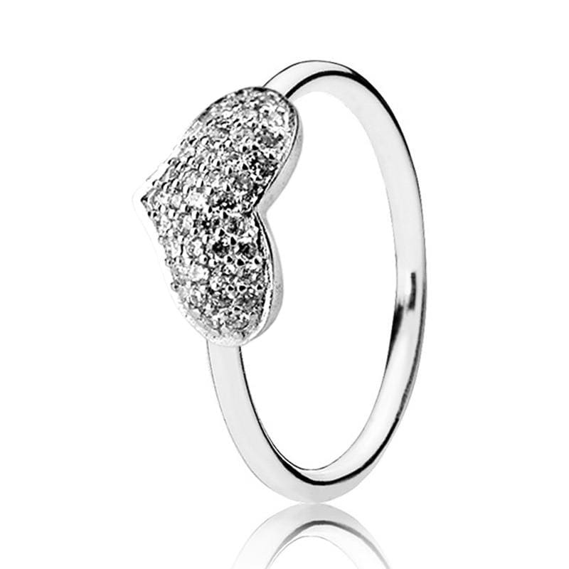 Hearts Of Halo Clover Rings - 6 / 4 - Wedding Bands