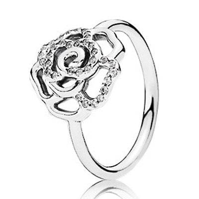 Hearts Of Halo Clover Rings - 6 / 5 - Wedding Bands