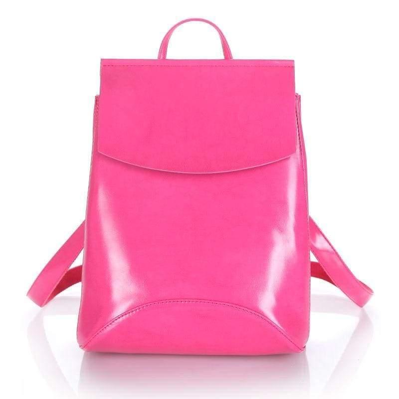 High Quality Women Backpack - Rose Red - Backpacks