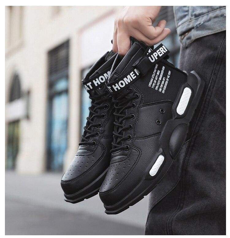 High-top Sneakers Mens Cotton Shoes - Black 18119 / 38 - Sneakers shoes