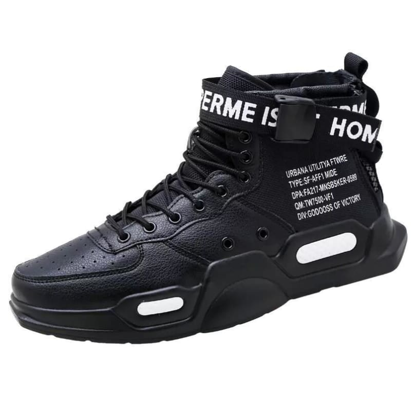 High-top Sneakers Mens Cotton Shoes - Black 18119 / 39 - Sneakers shoes