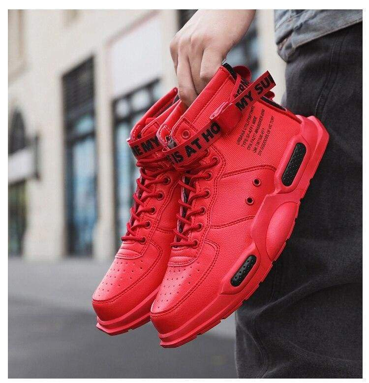 High-top Sneakers Mens Cotton Shoes - Red 18119 / 40 - Sneakers shoes