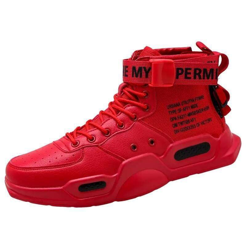 High-top Sneakers Mens Cotton Shoes - Red 18119 / 42 - Sneakers shoes