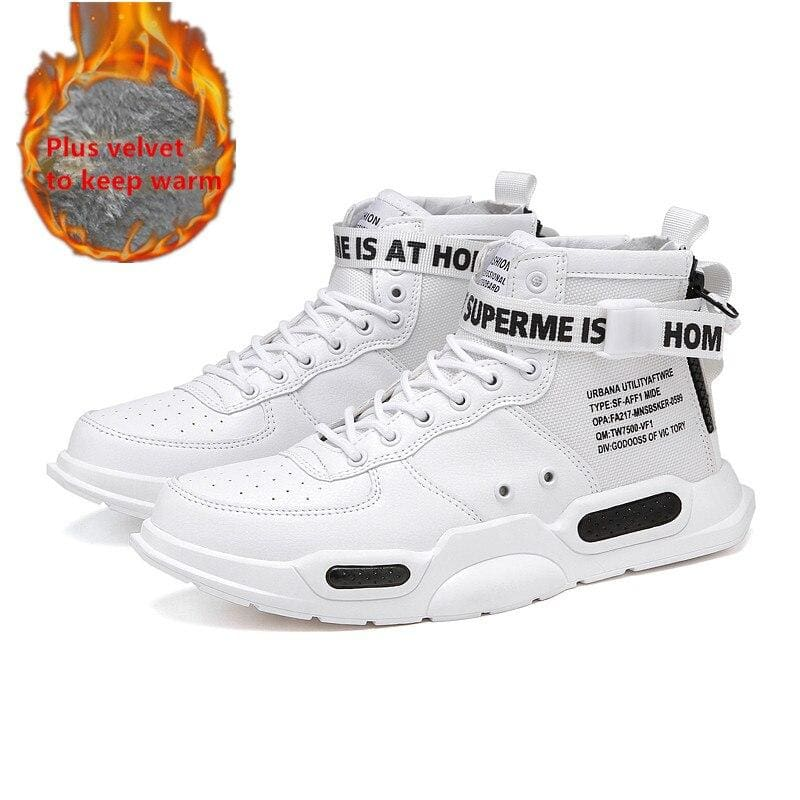High-top Sneakers Mens Cotton Shoes - Sneakers shoes