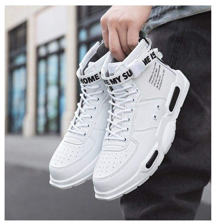 High-top Sneakers Mens Cotton Shoes - White black 18119 / 38 - Sneakers shoes