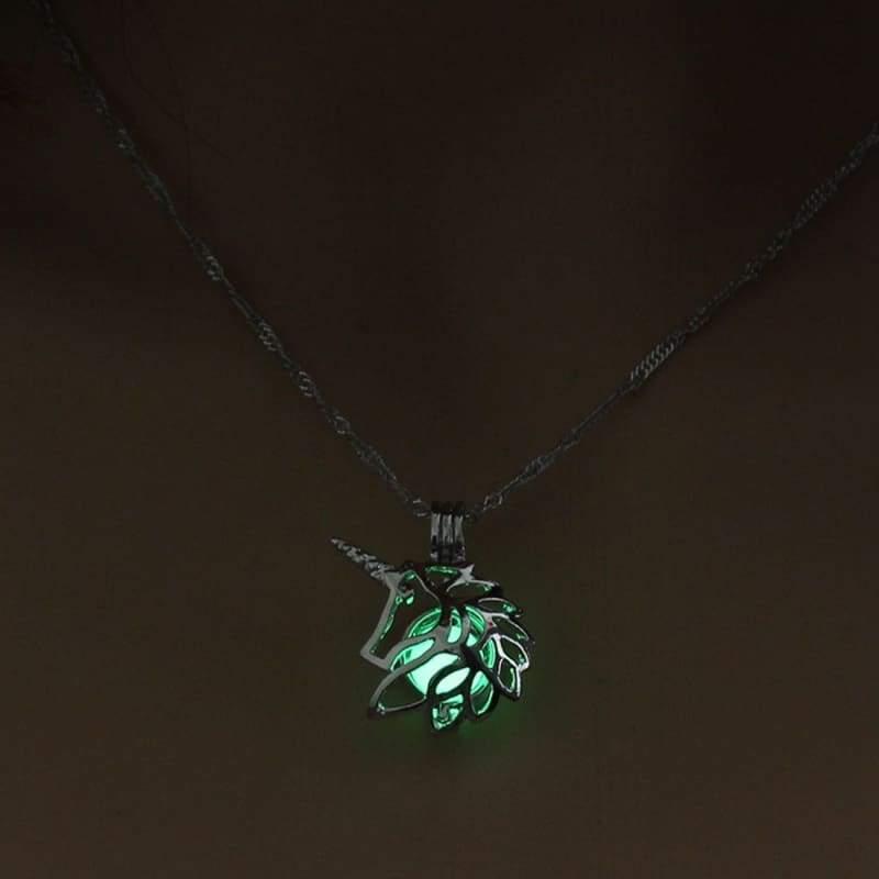 Hollow Unicorn Necklace - Choker Necklaces