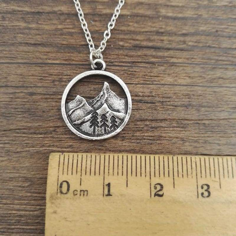 Landscaping Mountain Pendant - Pendant Necklaces