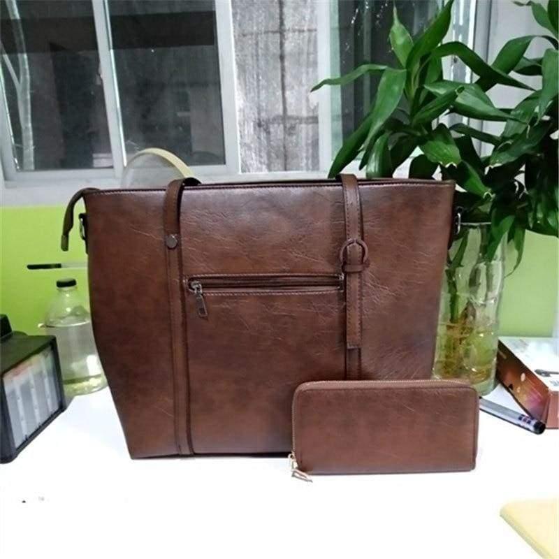 Large Shoulder Bag Ladies - coffee - Top-Handle Bags