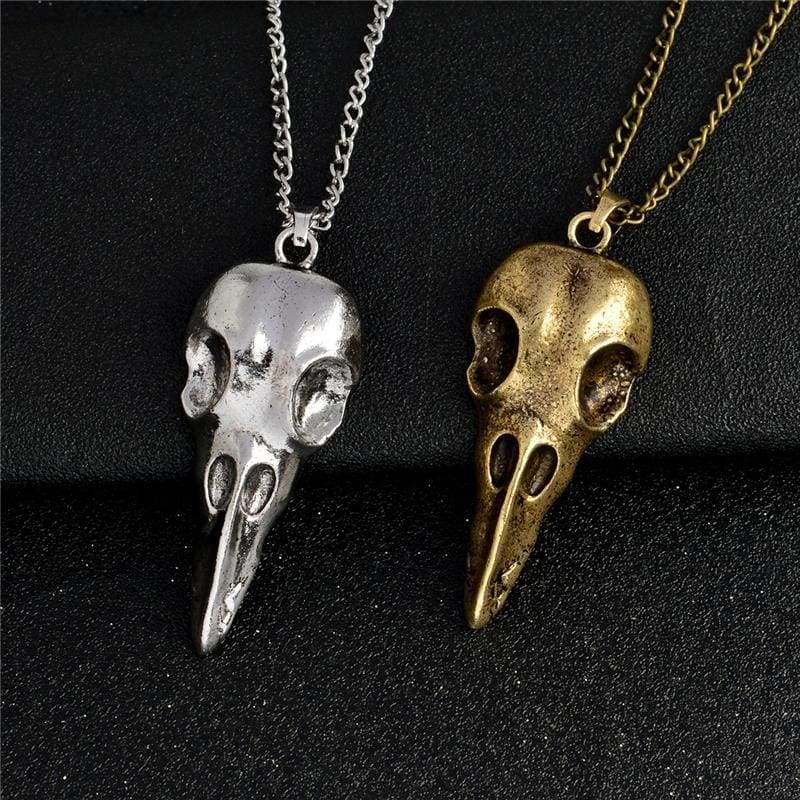 Lazy Raven Skull Necklace - Pendant Necklaces