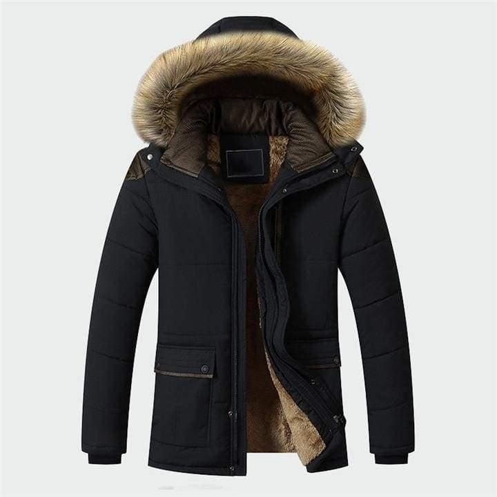 Lined winter parka Just For You - Black / M - Parkas