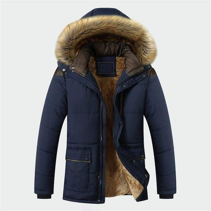 Lined winter parka Just For You - Blue / M - Parkas