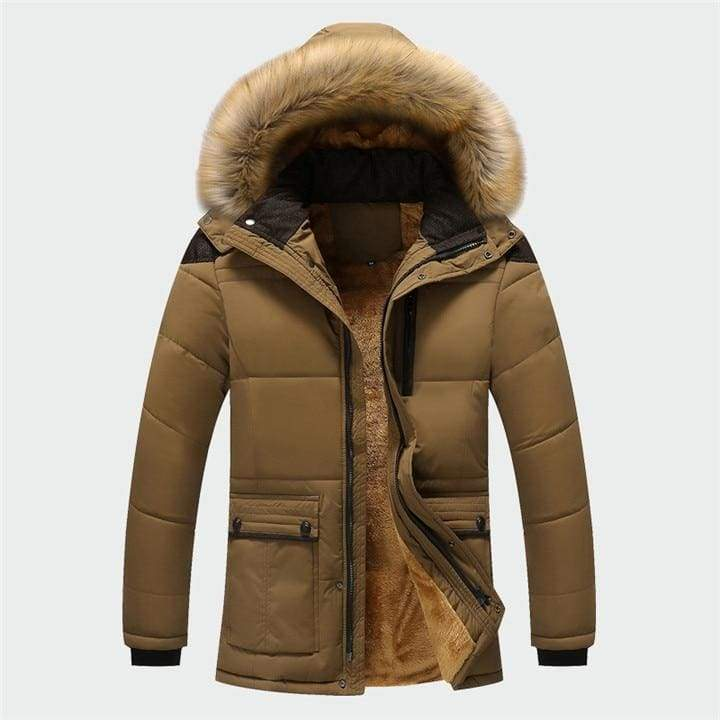 Lined winter parka Just For You - Dark khaki / M - Parkas