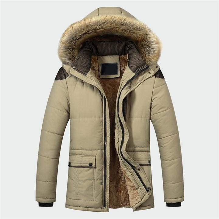 Lined winter parka Just For You - Khaki / M - Parkas