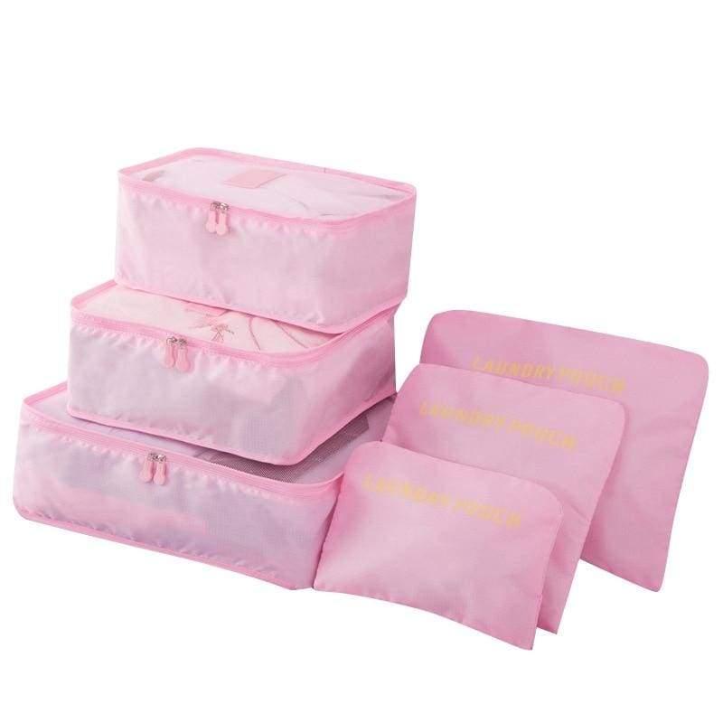 Luggage Packing Organizer Set - Pink - Storage Bags