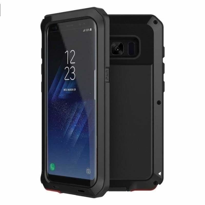 Luxury Doom Armor Metal Heavy Duty Samsung Phone Case Protection - Black / For Galaxy Note 9 - Fitted Cases