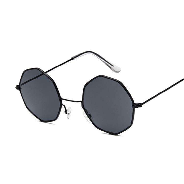 Luxury Octagon Sunglasses - Black Gray - Sunglasses