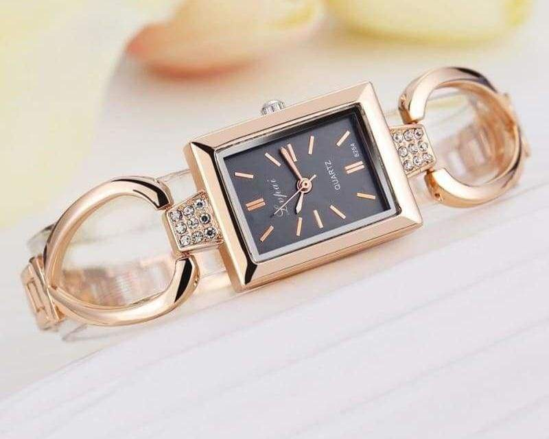 Luxury Women Bracelet Watches - Rose Gold Black 3 - Womens Watches