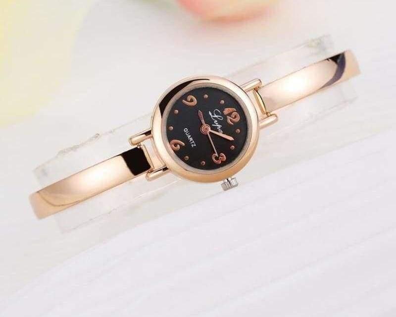 Luxury Women Bracelet Watches - Rose Gold Black 4 - Womens Watches