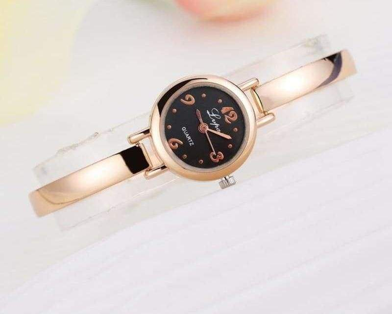 Luxury Women Bracelet Watches - Rose Gold Black 4 - Womens Watches