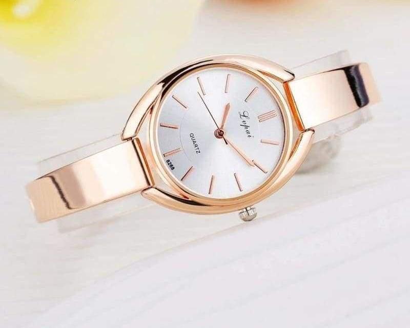 Luxury Women Bracelet Watches - Rose Gold White 2 - Womens Watches