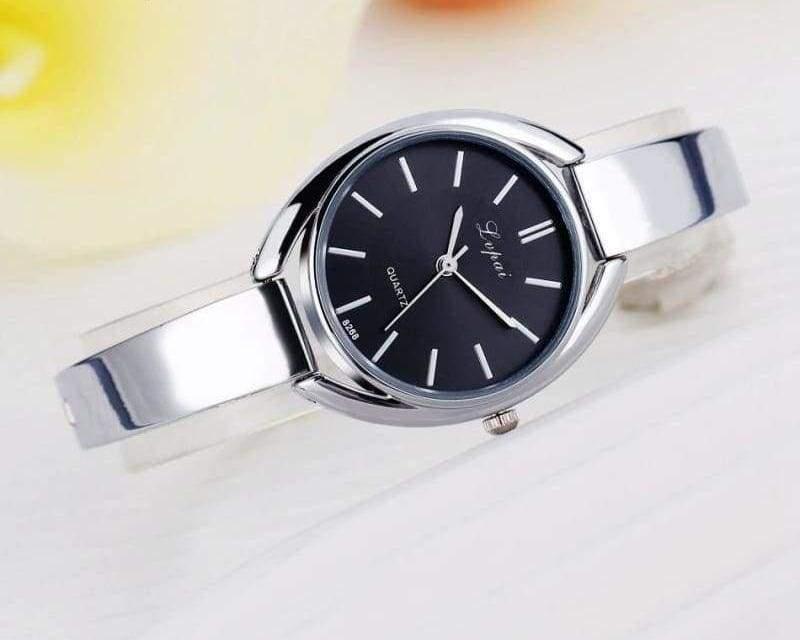 Luxury Women Bracelet Watches - Silver Black 2 - Womens Watches