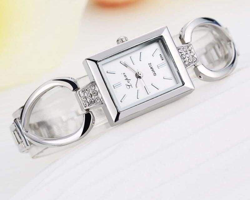 Luxury Women Bracelet Watches - Silver White 3 - Womens Watches