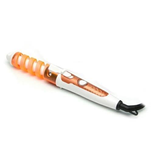 Magic Ceramic Spiral Hair Curling Iron Wand - Orange - Hair Rollers