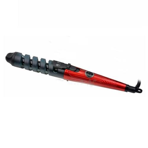 Magic Ceramic Spiral Hair Curling Iron Wand - Red - Hair Rollers