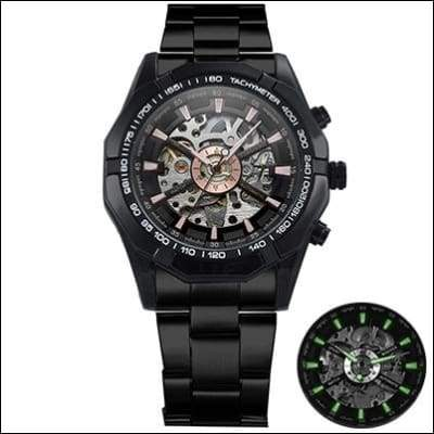 Mechanical watch luxury - ALL BLACK - Mechanical Watches