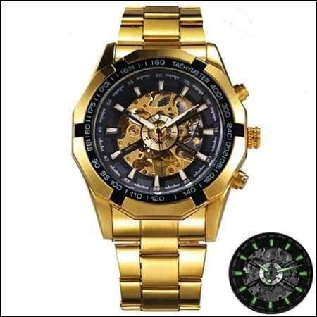 Mechanical watch luxury - GOLDEN ALL BLACK - Mechanical Watches