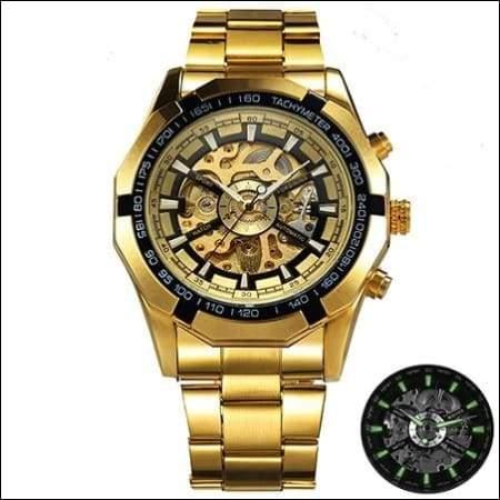Mechanical watch luxury - GOLDEN GOLDEN BLACK - Mechanical Watches