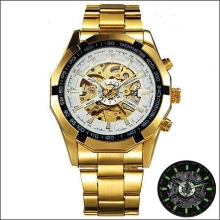 Mechanical watch luxury - GOLDEN WHITE - Mechanical Watches