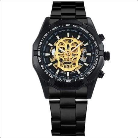 Mechanical watch luxury - UPGRADE BLACK SKULL - Mechanical Watches