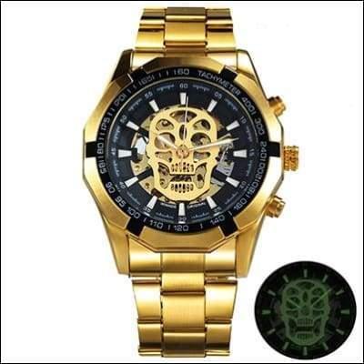 Mechanical watch luxury - UPGRADE GOLDEN SKULL - Mechanical Watches