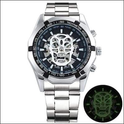Mechanical watch luxury - UPGRADE SILVER SKULL - Mechanical Watches