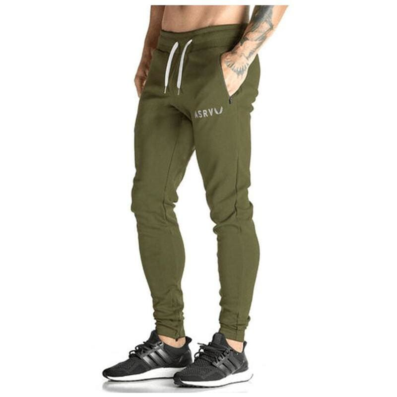 Men Casual Sweatpants Workout Sportswear Jogger - Army Green / M - Cross Pants